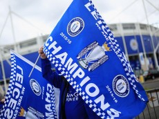 LEICESTER, ENGLAND - MAY 03:  Leicester reacts to Leicester City's Premier League Title Success on May 03, 2016 in Leicester, England.  (Photo by Matthew Lewis/Getty Images)