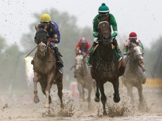 during the 141st Running of the Preakness Stakes at Pimlico Race Course on May 21, 2016 in Baltimore, Maryland.