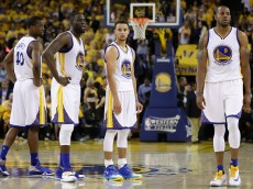 during Game Five of the Western Conference Finals during the 2016 NBA Playoffs at ORACLE Arena on May 26, 2016 in Oakland, California.