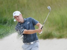 OAKMONT, PA - JUNE 15:  Jordan Spieth of the United States plays a shot from a bunker during a practice round prior to the U.S. Open at Oakmont Country Club on June 15, 2016 in Oakmont, Pennsylvania.  (Photo by Ross Kinnaird/Getty Images)