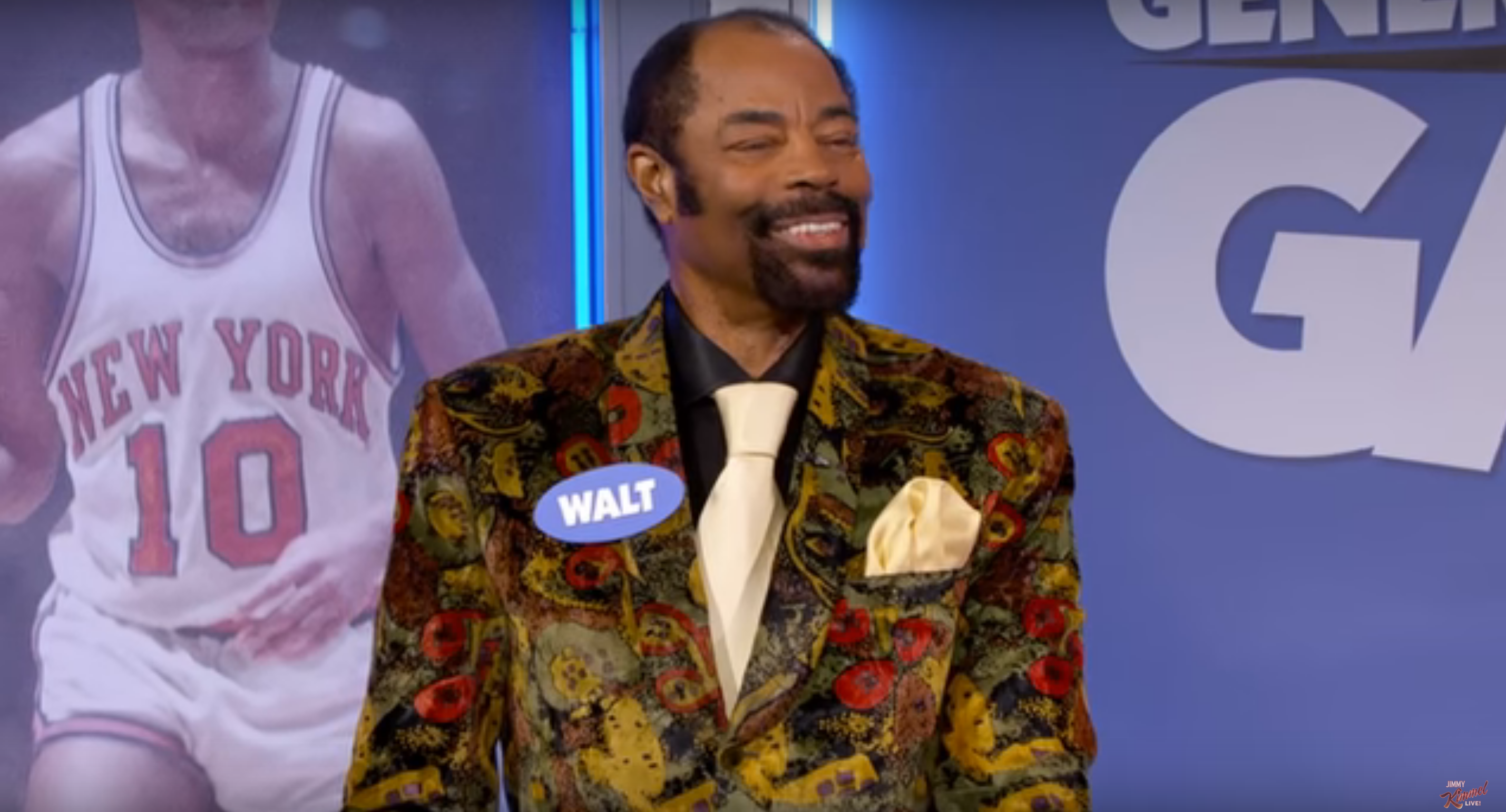 Walt Frazier appears on Kimmel with Anthony Davis doesn t know