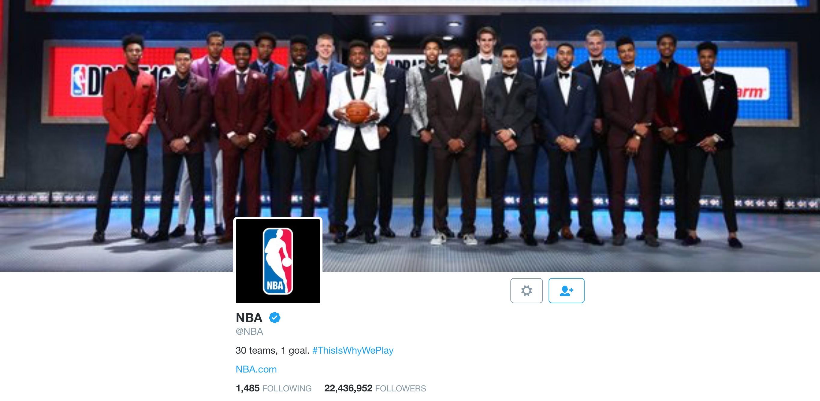 NBA Twitter page