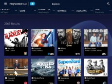 PlayStation Vue menu