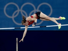 RIO DE JANEIRO, BRAZIL - AUGUST 19:  Nicole Buchler of Switzerland competes in the Women's Pole Vault Final on Day 14 of the Rio 2016 Olympic Games at the Olympic Stadium on August 19, 2016 in Rio de Janeiro, Brazil.  (Photo by Alexander Hassenstein/Getty Images)