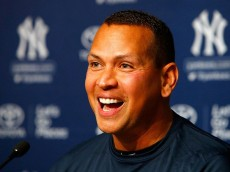 NEW YORK, NY - AUGUST 07: Alex Rodriguez speaks during a news conference on August 7, 2016 at Yankee Stadium in the Bronx borough of New York City. Rodriguez announced that he will play his final major league game on Friday, August 12 and then assume a position with the Yankees as a special advisor and instructor. (Photo by Jim McIsaac/Getty Images)