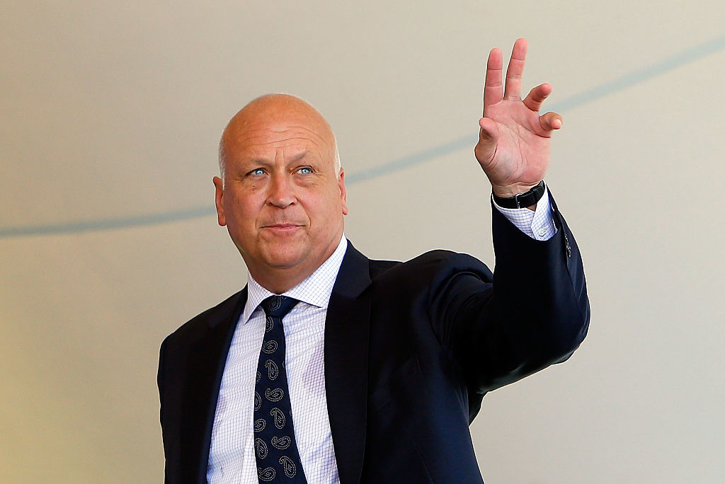 COOPERSTOWN, NY - JULY 24:  Hall of Famer Cal Ripken is introduced at Clark Sports Center during the Baseball Hall of Fame induction ceremony on July 24, 2016 in Cooperstown, New York.  (Photo by Jim McIsaac/Getty Images)