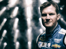 poses for a portrait during the 2015 NASCAR Media Day at Daytona International Speedway on February 12, 2015 in Daytona Beach, Florida.