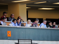 BALTIMORE, MD - APRIL 29:  The media sit in the press box during the game between the Baltimore Orioles and the Chicago White Sox at Oriole Park at Camden Yards on April 29, 2015 in Baltimore, Maryland. The game was played without spectators due to the social unrest in Baltimore.  (Photo by Greg Fiume/Getty Images)
