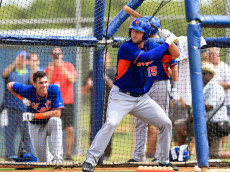 PORT ST. LUCIE, FL - SEPTEMBER 20: Tim Tebow #15 of the New York Mets works out at an instructional league day at Tradition Field on September 20, 2016 in Port St. Lucie, Florida. (Photo by Rob Foldy/Getty Images)