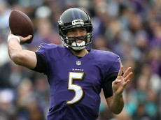 BALTIMORE, MD - DECEMBER 4: Quarterback Joe Flacco #5 of the Baltimore Ravens passes the ball against the Miami Dolphins in the first quarter at M&T Bank Stadium on December 4, 2016 in Baltimore, Maryland. (Photo by Matt Hazlett/Getty Images)