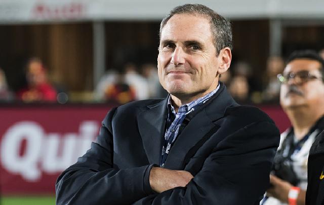 LOS ANGELES, CA - OCTOBER 27: Pac-12 Commissioner Larry Scott looks on during an NCAA football game between the California Golden Bears and the USC Trojans on October 27, 2016, at the Los Angeles Memorial Coliseum in Los Angeles, CA. (Photo by Brian Rothmuller/Icon Sportswire via Getty Images)