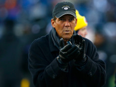 FOXBORO, MA - JANUARY 10: Baltimore Ravens owner Steve Bisciotti looks on before the 2014 AFC Divisional Playoffs game against the New England Patriots at Gillette Stadium on January 10, 2015 in Foxboro, Massachusetts.  (Photo by Jared Wickerham/Getty Images)