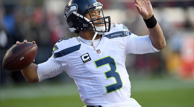 SANTA CLARA, CA - JANUARY 01: Russell Wilson #3 of the Seattle Seahawks warms up during pregame warm ups prior to the start of an NFL football game against the San Francisco 49ers at Levi's Stadium on January 1, 2017 in Santa Clara, California. (Photo by Thearon W. Henderson/Getty Images)