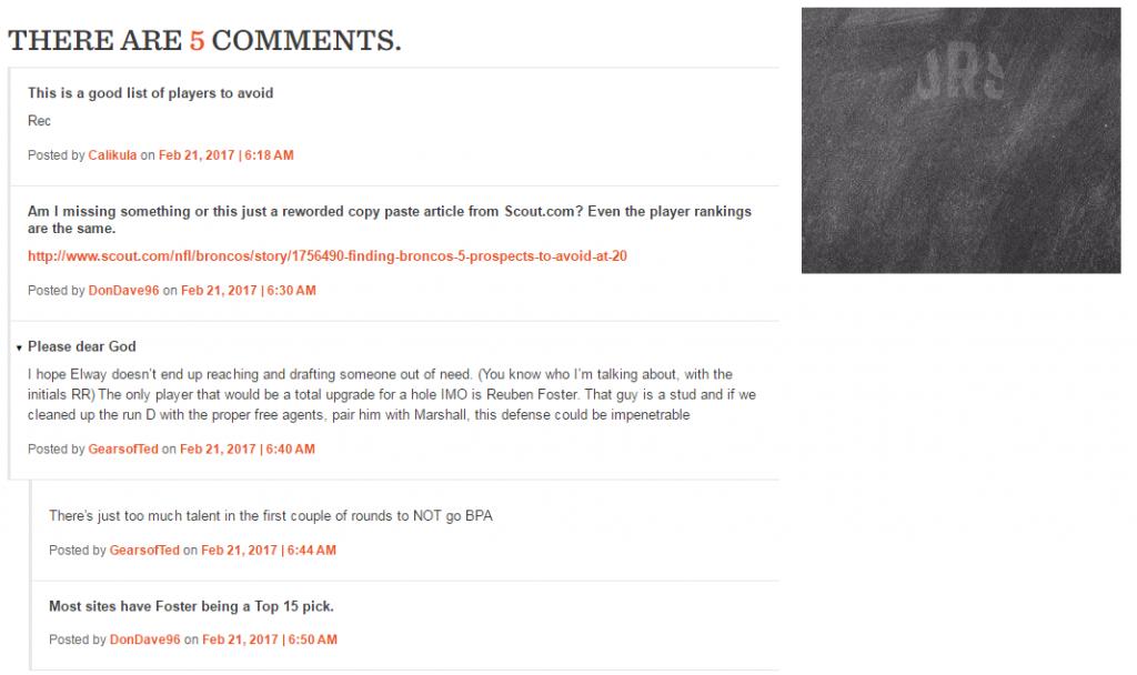 Broncos plagiarism comment