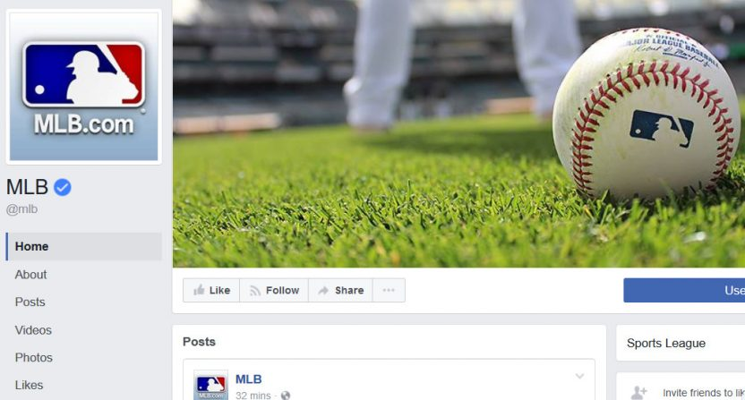 Facebook Is in Talks to Stream Major League Baseball Games