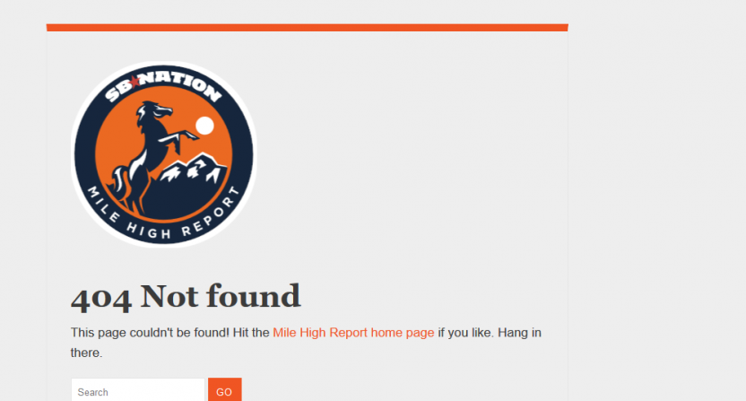 Broncos plagiarism 404 not found SB Nation
