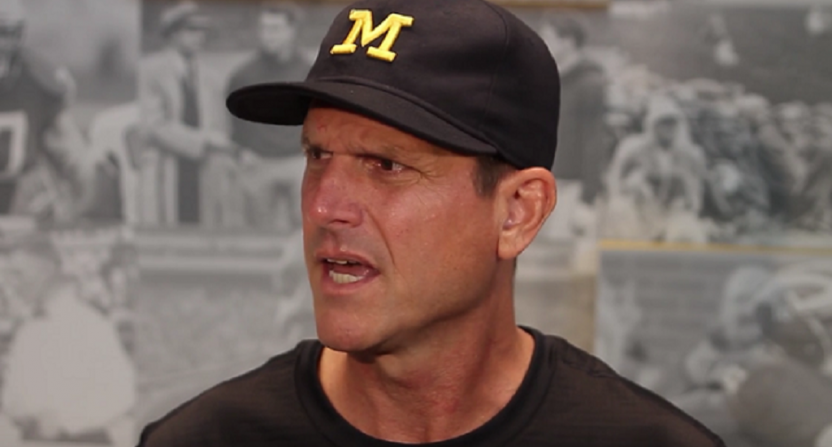 Jim Harbaugh goes after 'Pete' Finebaum for 'alternative facts'