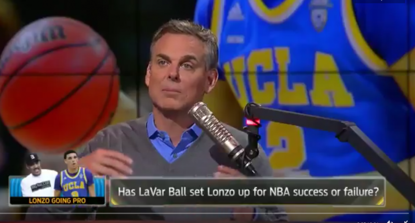 Colin Cowherd changed his takes on LaVar Ball pretty quickly.