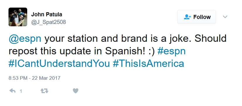 ESPN Spanish tweet