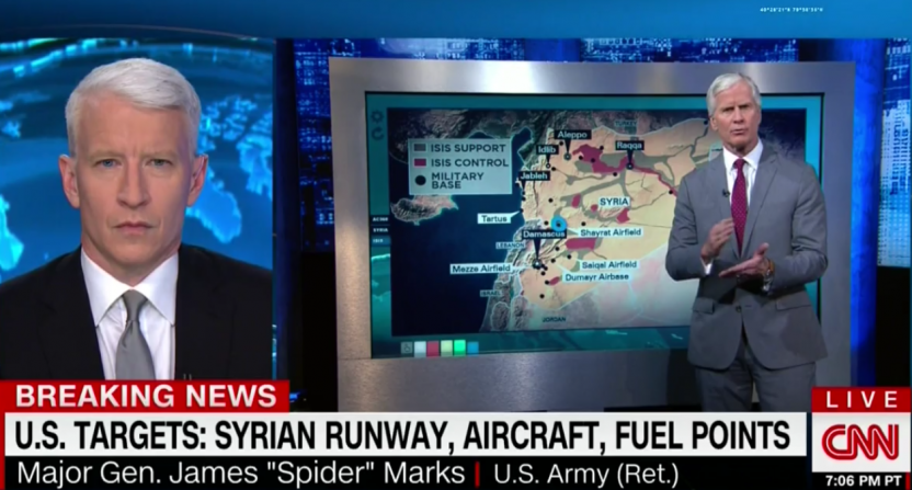 Retired general James Marks brought up Kentucky's one-and-done players on CNN while discussing airstrikes against Syria.