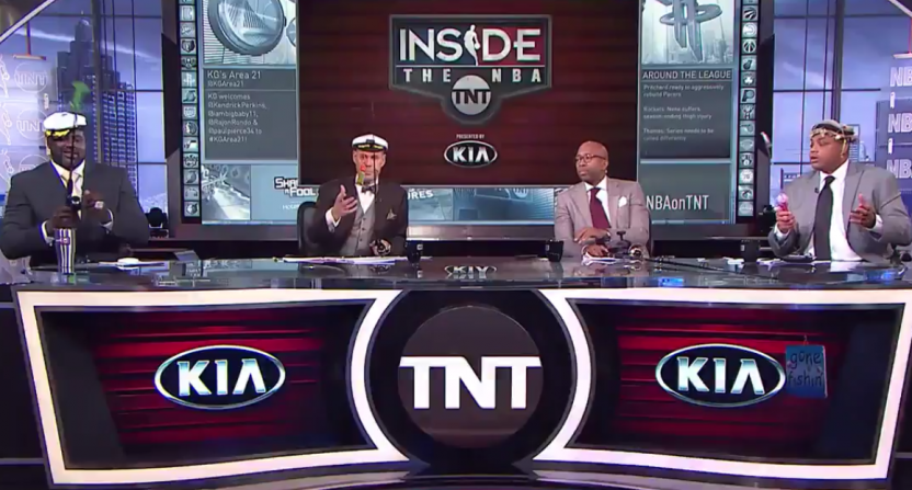 Charles Barkley and the TNT crew send the Jazz fishing.