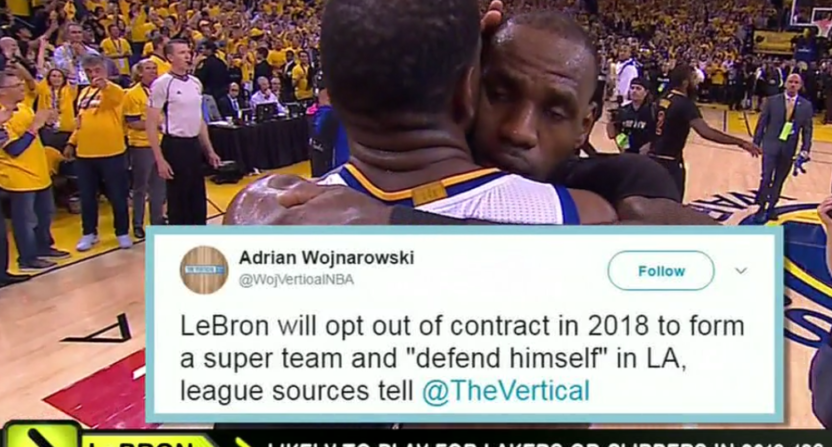 ESPN fake Woj tweet