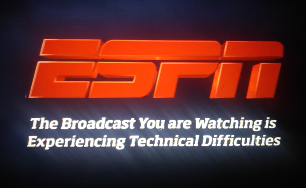 ESPN technical difficulties.
