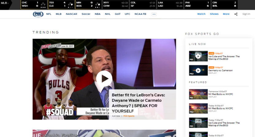 FoxSports.com from 1930 on 06-26-17