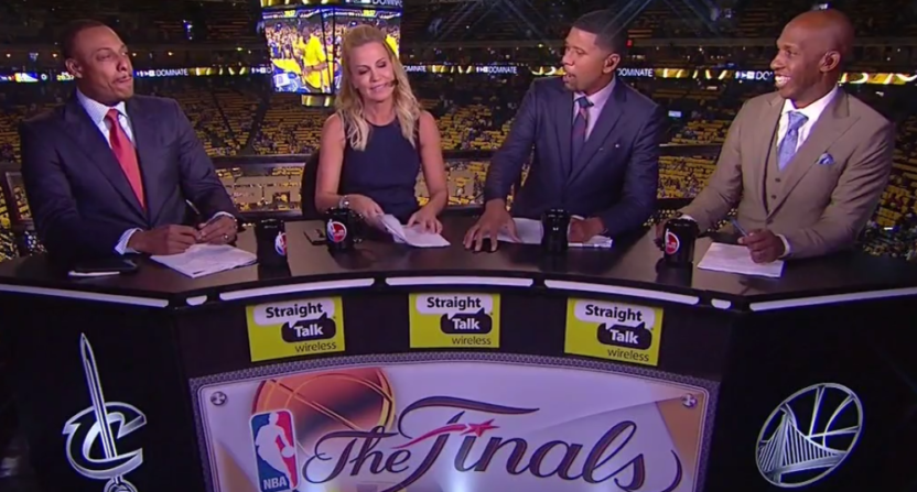 Things got weird on ABC when Jalen Rose started talking about Michelle Beadle's outfit