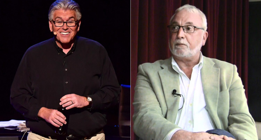 Mike Francesa and Phil Mushnick are playing the feud again.