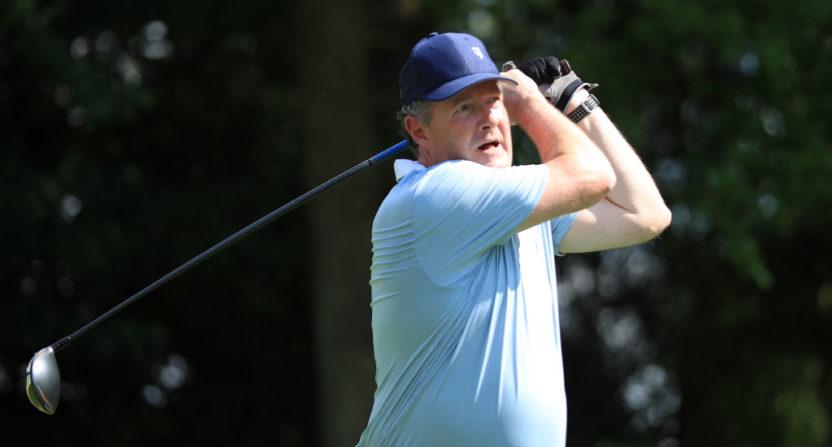 Piers Morgan at May's BMW PGA Championship Pro-Am.