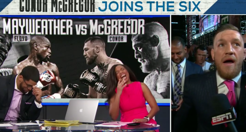 Conor McGregor joined Michael Smith and Jemele Hill on ESPN's SC6 Tuesday.