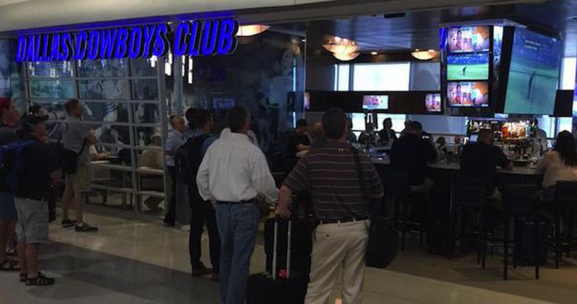 The Dallas Cowboys' Club at DFW International, one of many potential out-of-home viewing locations.