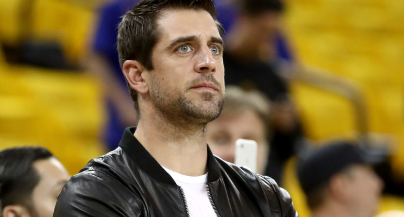 Aaron Rodgers will be a captain at a new Turner/CAA NFL vs NBA charity golf event.