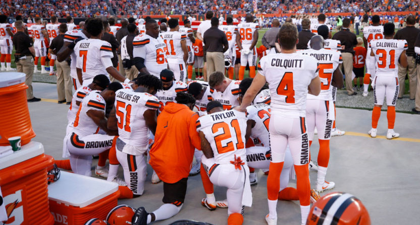 Browns anthem protest.