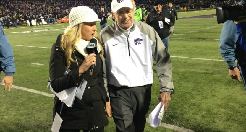 Kris Budden interviews Kansas State coach Bill Snyder.