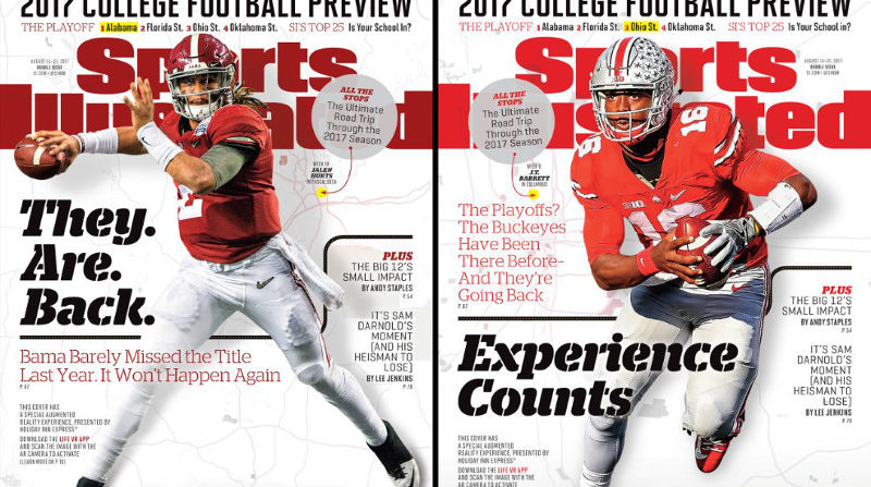 Two of Sports Illustrated's four regional covers for their college football preview.