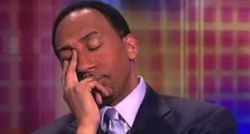 Stephen A. Smith facepalms.