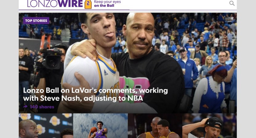 lonzo ball-lonzo wire-los angeles lakers-lavar ball