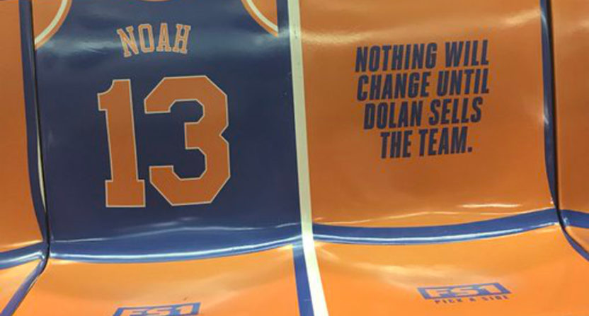These Subway Ads Calling The Knicks 'Hopeless' Will Be Removed