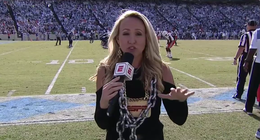 Kris Budden brought out her own turnover chains on the sidelines Saturday.
