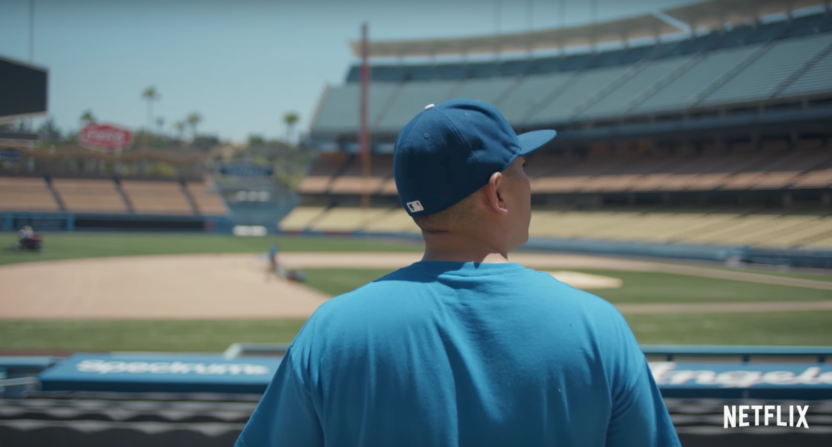 long shot-larry david-los angeles dodgers-juan catalan-jacob lamendola