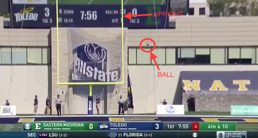 Jay Feely Botches Field Goal Call During Eastern Michigan vs. Toledo Game