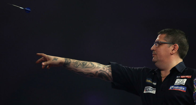 Gary Anderson in the 2017 William Hill PDC World Darts Championship.