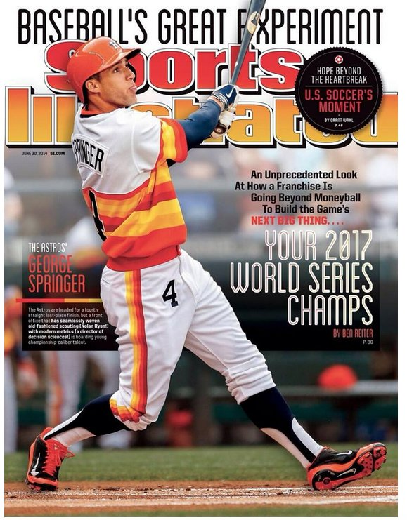 george springer-houston astros-sports illustrated