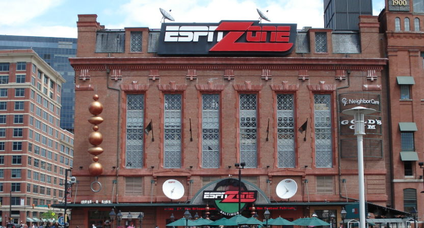 The ESPN Zone in Baltimore closed in 2010. Barstool Sports is now talking about opening their own sports bar chain.