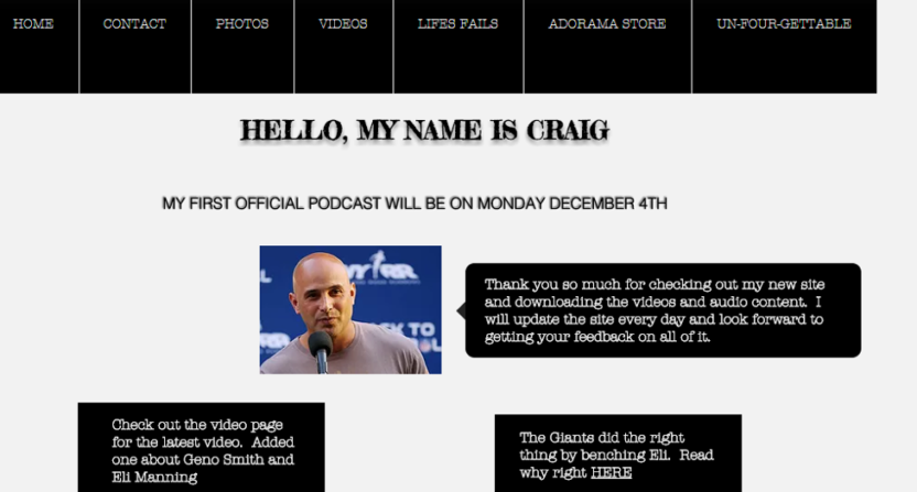Craig Carton's website.