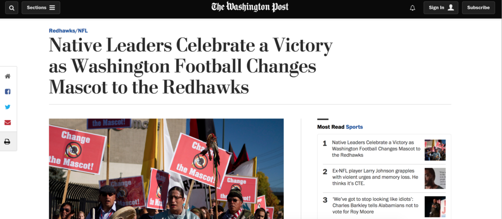 washington redhawks-fake news-washington post