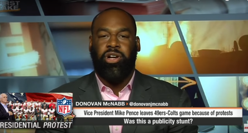 Donovan McNabb on ESPN's First Take in October 2017.