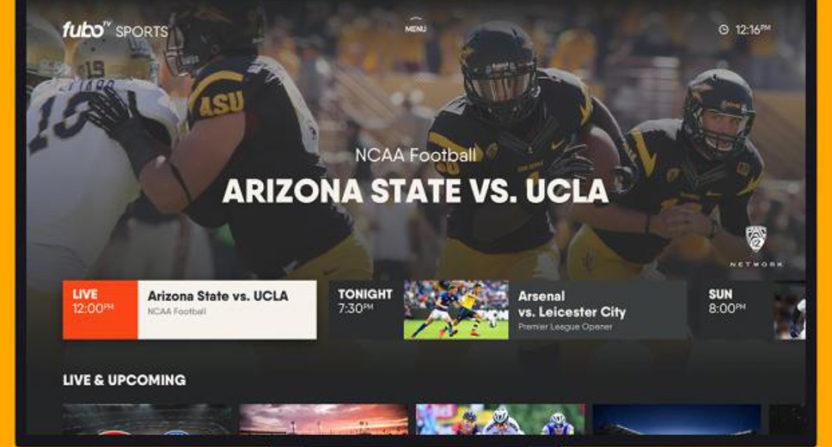 Some of FuboTV's sports options.